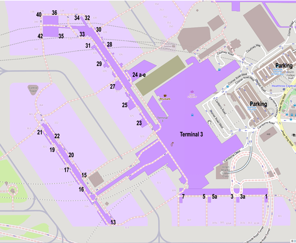 Heathrow airport taxis heathrow terminal 3 map of gates parking sciox Choice Image